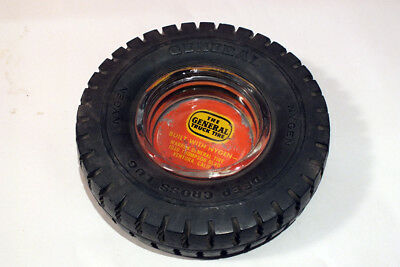 Vtg General Tire Truck Tire Ashtray Rubber Tread Advertising Counter Display CA