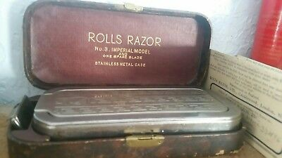 Rolls Razor 1927 Self Sharpening in Art Deco Case Sheffield Steel England