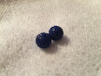 1 pair of genuine undyed lapis lazuli beads (around 9mm) for action