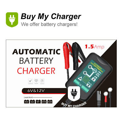 Intelligent 6V 12V 1.5A Lead Acid Battery Charger for Car Use and Electric Toy