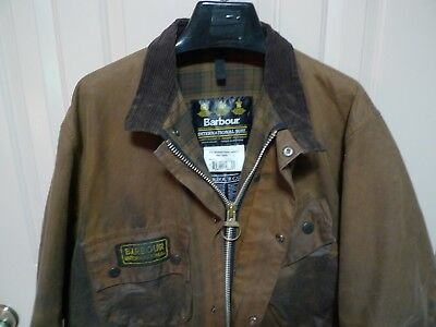 Barbour- A10 International Suit  Waxed Cotton Jacket & Belt -Rare- Made @ Uk-48