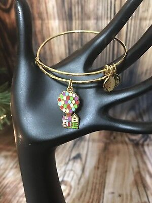 Disney Parks Alex & and Ani UP Balloon House Gold Charm Bracelet 2018