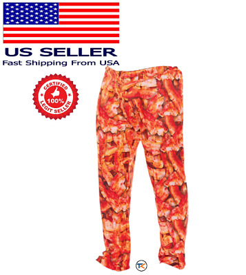 Men's BACON LOUNGE PAJAMA PANTS*CHOOSE SIZE* NEW WITH TAGS *FAST SHIPPING*