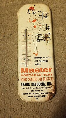 Vintage thermometer metal sign