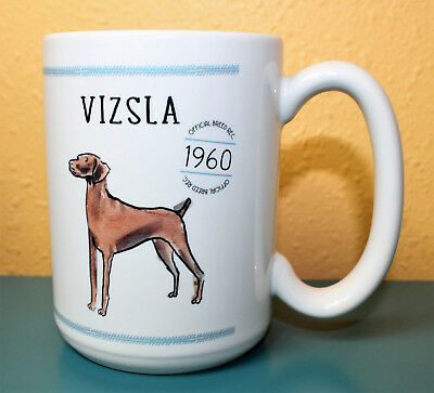 Vizsla Official Breed 1960 Ceramic Coffee Mug Made in USA Vizsla Poem Sketch