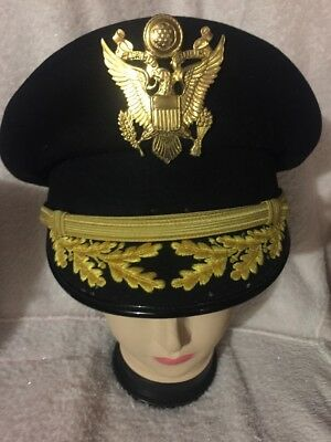 Vintage US Military Visor Hat Cap Officer  Wool Flight Ace 7