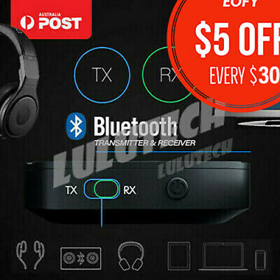 Bluetooth Receiver Transmitter Stereo Audio Adapter for TV Speaker HIFI 3.5mm AU