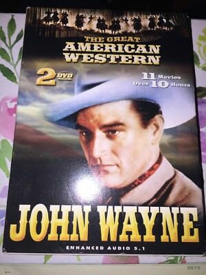 THE GREAT AMERICAN WESTERN - JOHN WAYNE - Over 11 hours on 11 movies on 2-DVD's