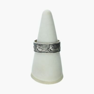 goodbyebabylon / sterling silver vintage 7mm angel band / ring 9 (3.6g)