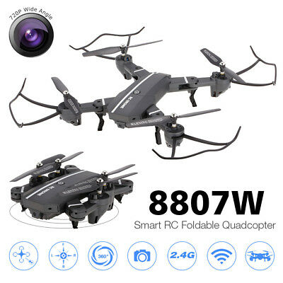 Altitude Hold Quadcopter 8807W 720P Wide Angle Camera Wifi FPV 2 Batteries B2Z5