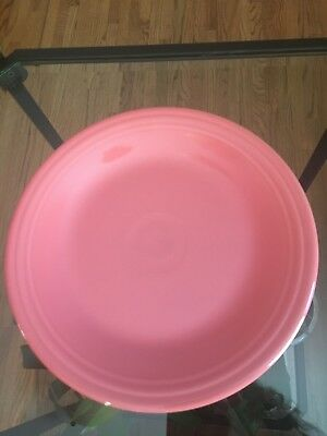 """Fiesta Ware DINNER PLATE - 10 1/2"""" - New Never Used Retired Color - FLAMINGO"""