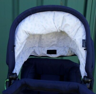 Baby Pram Brand Emmaljunga Blue with seat hardly used in very good condition