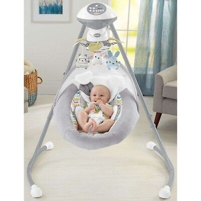 Baby Cradle Swing Bassinet Crib Sleeper Bed Infant Child Girl Nursery Furniture