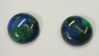 2pcs Natural Azurite Malachite Calibrated Round Cabochon 6mm 8mm 10mm Gemstones