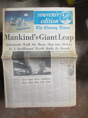 The Evening Times 7-21-1969 Trenton, New Jersey Mankind's Gian Leap Moon Landing
