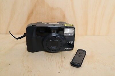 Pentax Espio 115 - Parts Only + Camera Remote Point and Shoot 35mm Film Camera