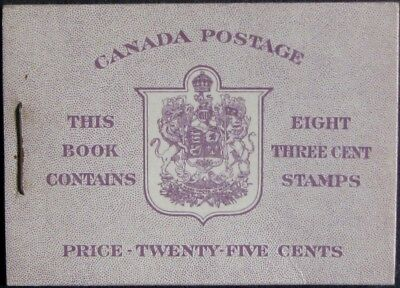 CANADA BOOKLET #40b MNH Complete; Type II, no rate page; CV $9.00