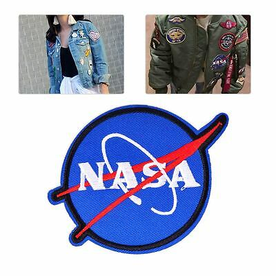 NASA Embroidered Patch Space Discovery Applique Badge Sew Iron On Bag Clothes