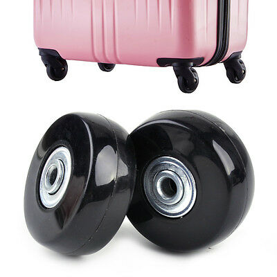 2pcs Luggage Suitcase Replacement Wheels Axles Wrench Deluxe Repair OD 50mm New