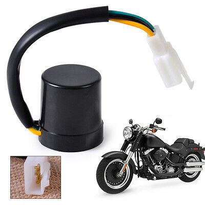New Turn Signal Relay Flasher 3 Wire Round fit GY6 50-250cc Moped Scooter ATV