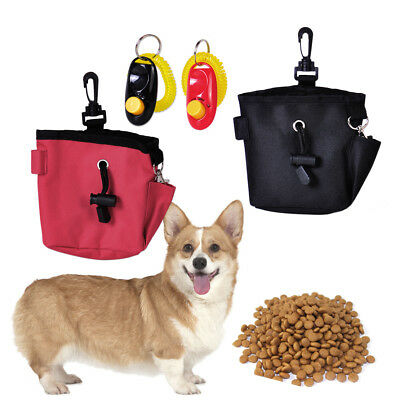 New Puppy Dog Pet Treat Training Bait Ball Pouch Clicker Waist Bag Food Pouch