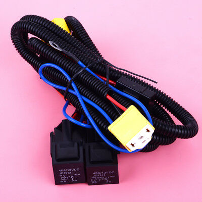 Car H4 Headlight Fix Dim Light Relay Wiring Harness System 2