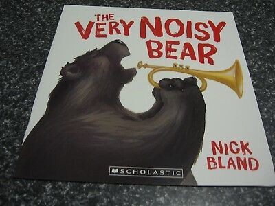 The Very Noisy Bear By Nick Bland Brand New Softcover