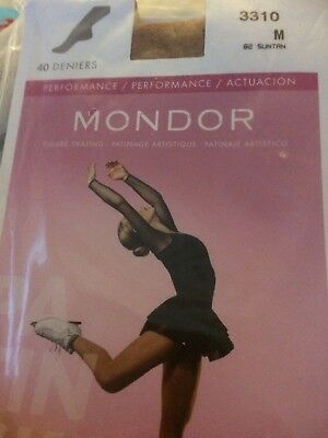 Mondor 3310 Performance Footed Ice Skating Tights - Size M