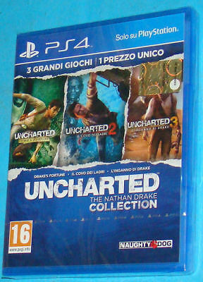 Uncharted The Nathan Drake Collection Sony Playstation 4 PS4 PAL New Nuovo