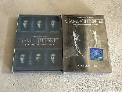 Game of Thrones Seasons 6 and 7 DVD Bundle Free Shipping New!