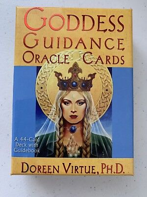 New In Box Goddess Guidance Oracle Cards Doreen Virtue 44 Cards Guidebook