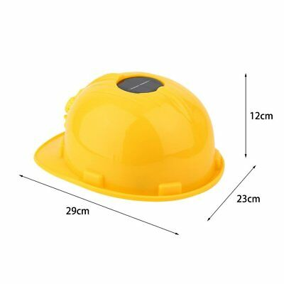 Outdoor Solar Energy Safety Helmet Hard Ventilate Hat Cap Cooling Cool Fan UL0