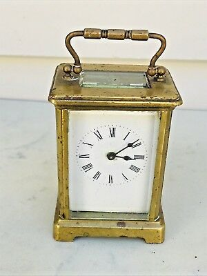French Carriage Clock Brass Case 8 Days Time Piece Only