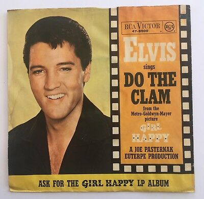 """7"""" vinyl - Elvis Presley - Do The Clam / You'll be Gone - RCA Victor 47-8500"""