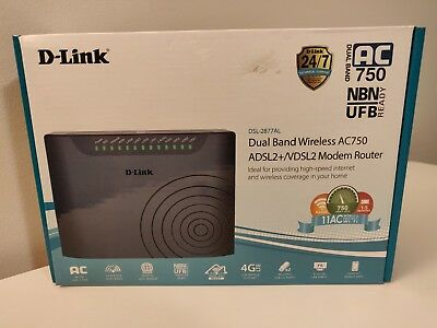 D-Link Dual Band Wireless AC750 ADSL2+ Modem Router