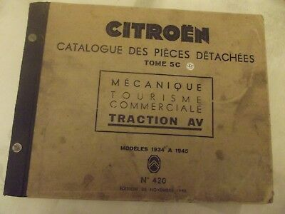 catalogue pieces detachees citroen traction avant 1937/1945