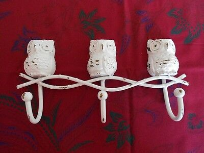 Three Owls Coat Hooks Hat Rack