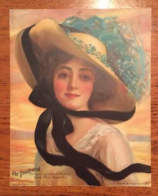 1913 The Prudential Girl Calendar The Prudential Insurance Company Of America
