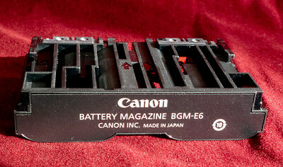 Genuine Canon BGM-E6 Battery Holder Magazine For BG-E6 Battery Grip Canon 5D Mk2