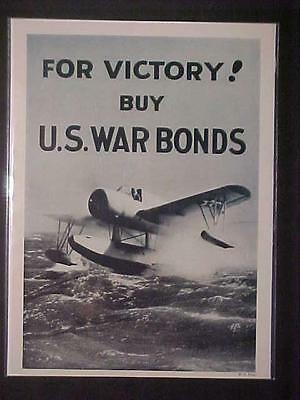 Rare Old Vintage ~Military Army Plane War Bonds 1943 Art Print Ad~ Antique Wwii