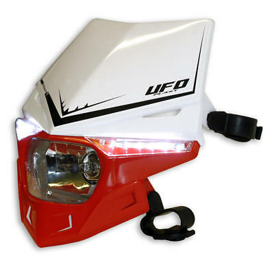 Ufo Scheinwerfer Stealth Headlight (12V/35W & - Led) Dual Color White/crf-Red