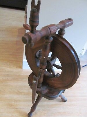 Antique Wooden Spinning Wheel - Spares or Repair - Very Decorative as it stands