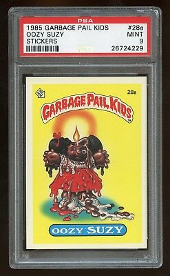 1985 Topps Garbage Pail Kids Series 1 OOZY SUZY #28a Card***PSA 9 MINT***