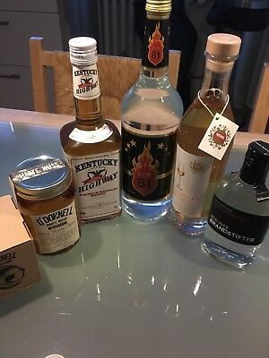 Diverse Spirituosen , Rum, Grappa , Berliner Brandstifter , Whiskey, Moonshine
