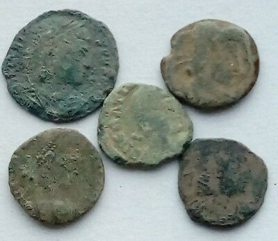 Lot Of 5 Roman Bronze Coins