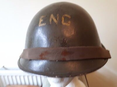 British 'D-Day' Pattern Turtle Helmet Royal Engineers 1952 - Later Liner