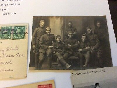 WW1 11 postcards, Co. 9th Bn. 20th Engineers, various locations, travels, transc