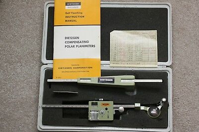 Dietzgen  Compensating Polar Planimeter with Manual and Case Model 1810