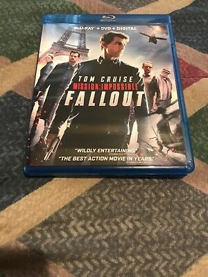 Mission:impossible Fallout(Blu-Ray/dvd, 2018)W/slipcover