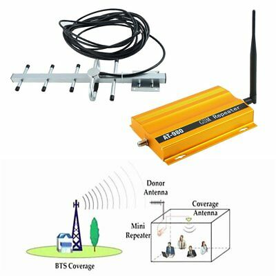 GSM 900MHz Mobile Phone Signal Booster Repeater Amplifier + Yagi Antenna AT980L3